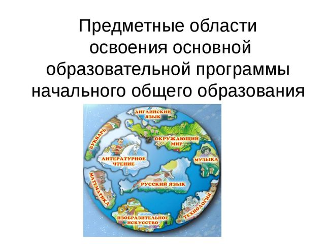 Предметные области освоения основной образовательной программы начального общ...