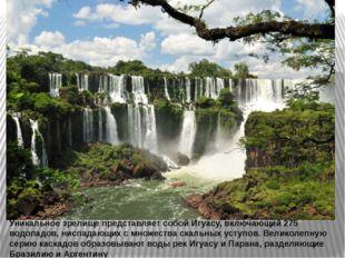 Уникальное зрелище представляет собой Игуасу, включающий 275 водопадов, ниспа