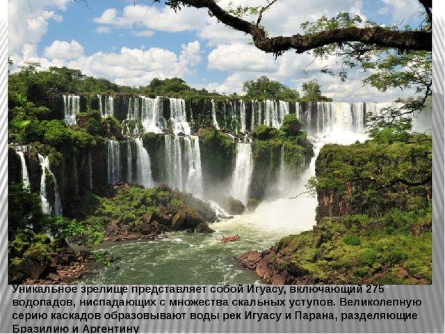 Уникальное зрелище представляет собой Игуасу, включающий 275 водопадов, ниспа...