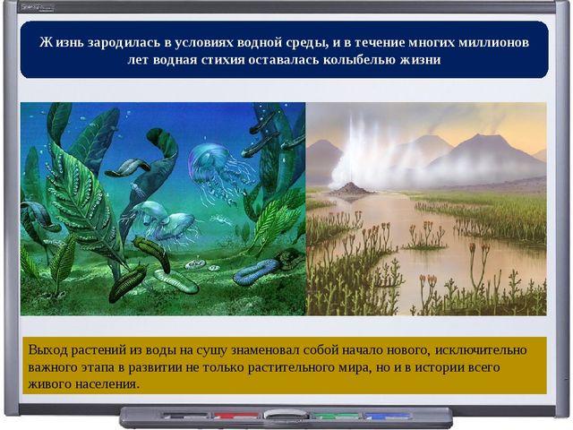 Жизнь зародилась в условиях водной среды, и в течение многих миллионов лет во...