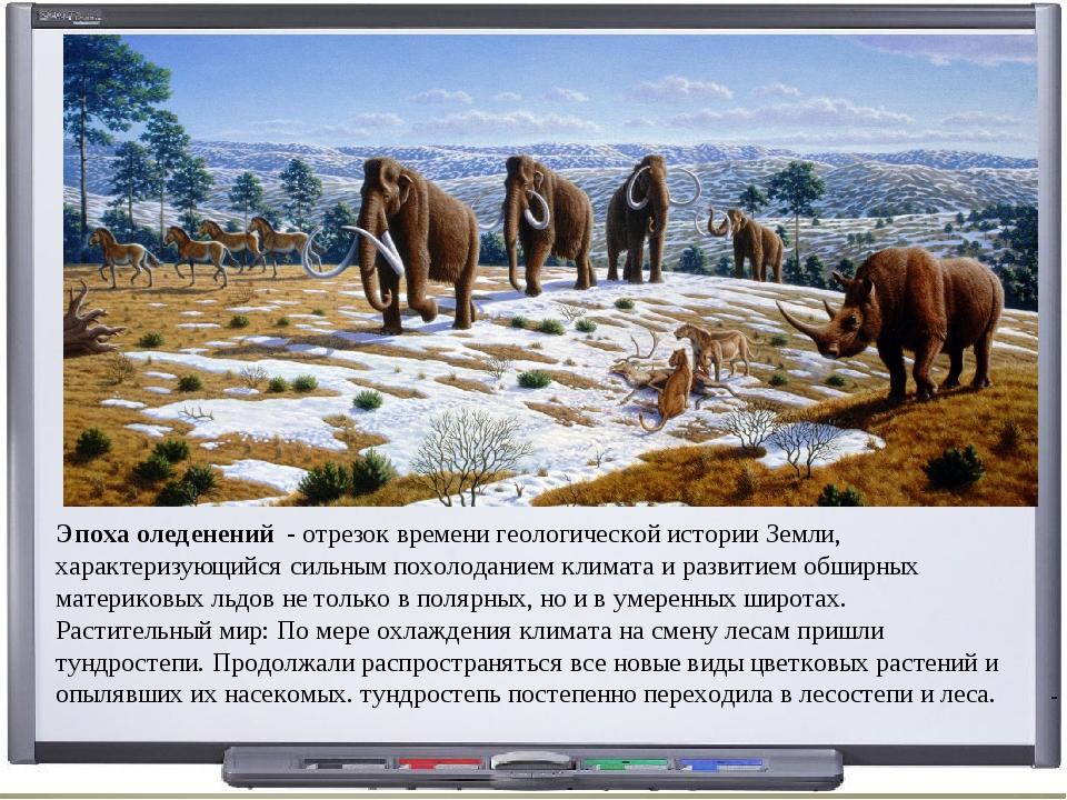 Эпоха оледенений - отрезок времени геологической истории Земли, характеризующ...
