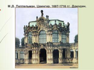 М.Д. Пеппельман. Цвингер. 1697-1716 гг. Дрезден.