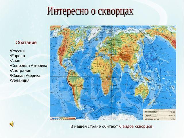 Россия Европа Азия Северная Америка Австралия Южная Африка Зеландия В нашей с...