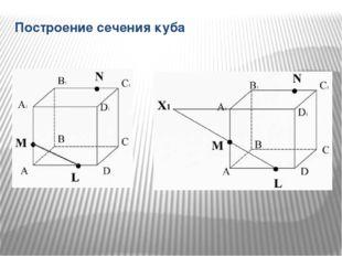 Построение сечения куба