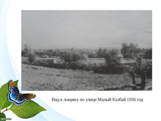 Вид в лощину по улице Малый Казбай 1936 год