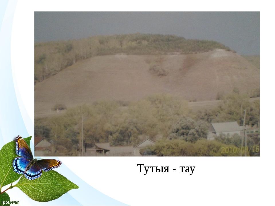 Тутыя - тау