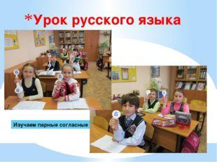 Урок русского языка Изучаем парные согласные