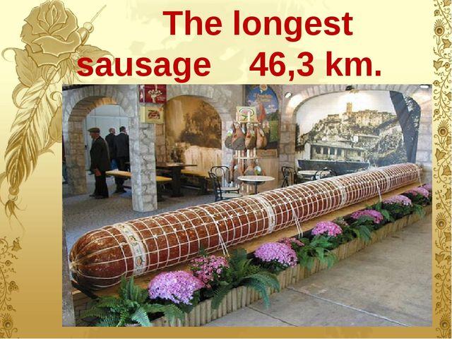 The longest sausage 46,3 km.