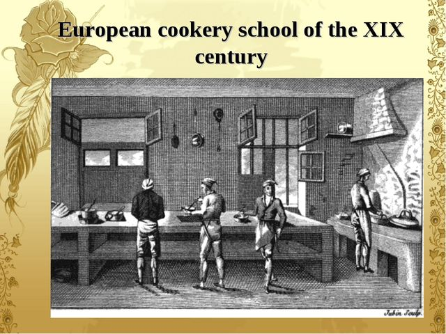 European cookery school of the XIX century