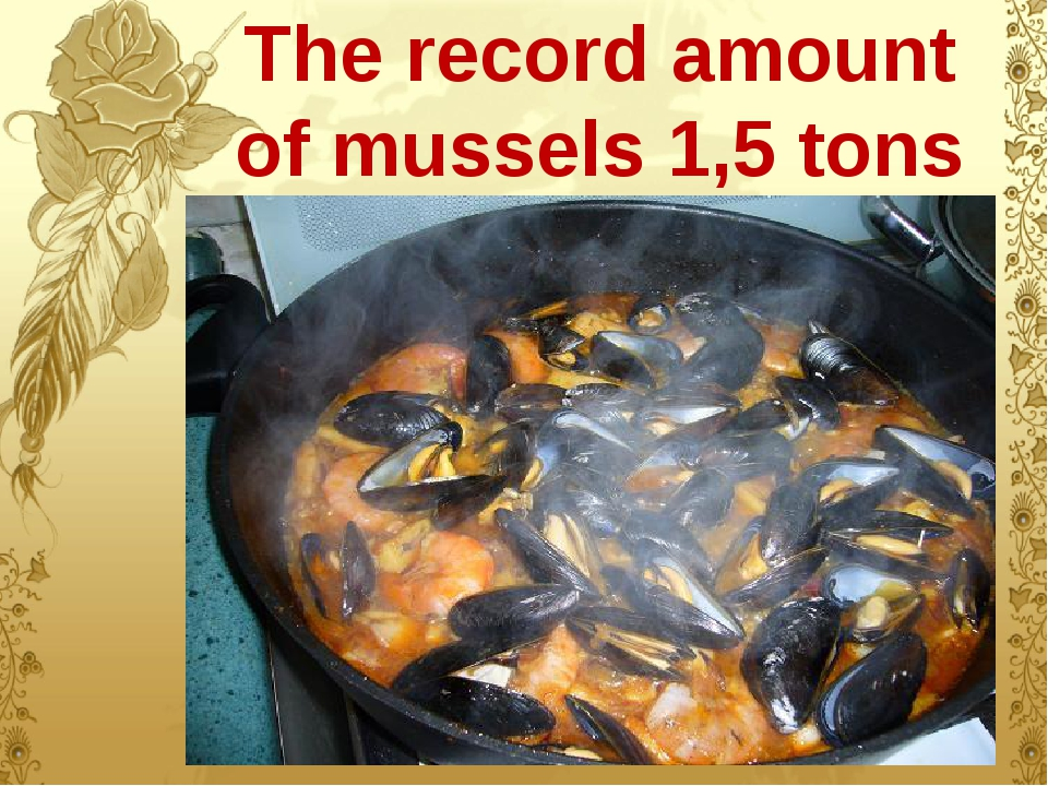 The record amount of mussels 1,5 tons