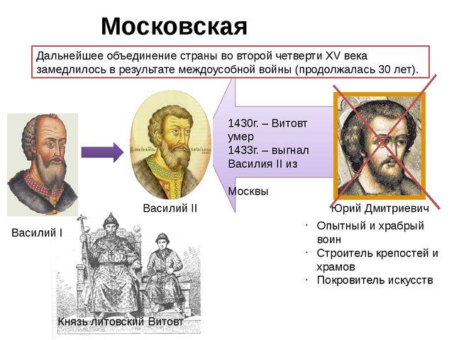 Московская усобица. Дальнейшее объединение страны во второй четверти XV века...
