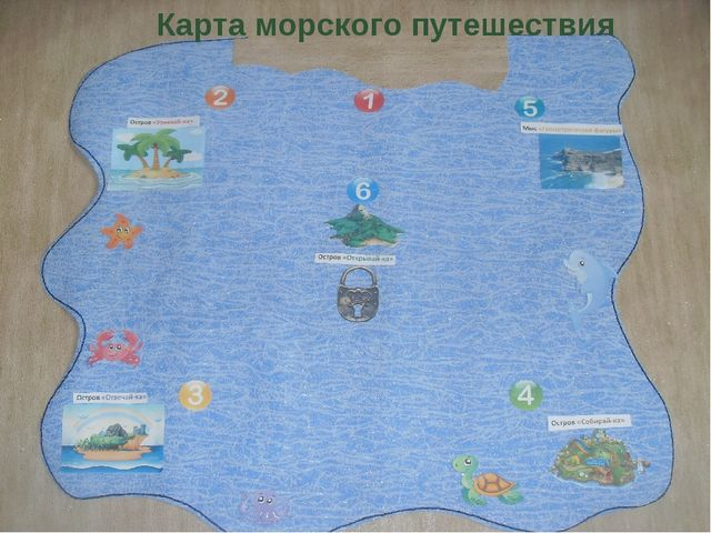 Карта морского путешествия