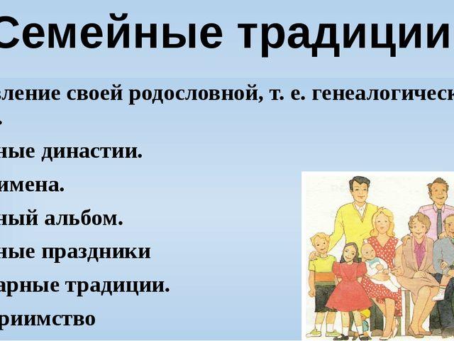 Составление своей родословной, т. е. генеалогического дерева. Семейные династ...