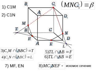 искомое сечение 1) C1M 2) C1N 7) MF, EN