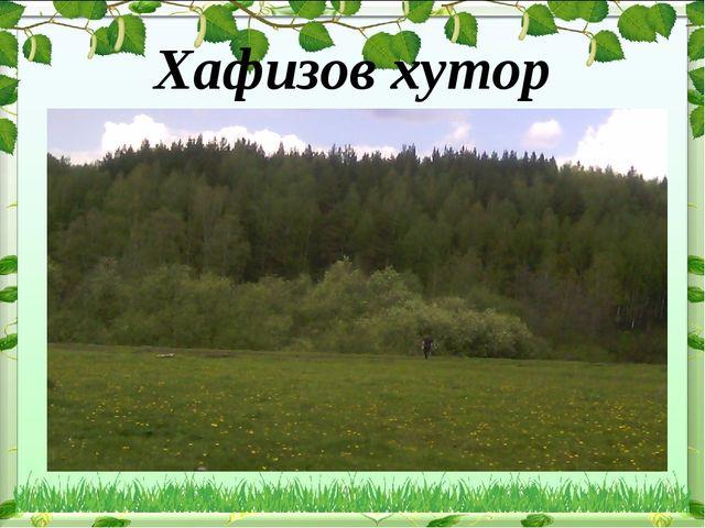 Хафизов хутор