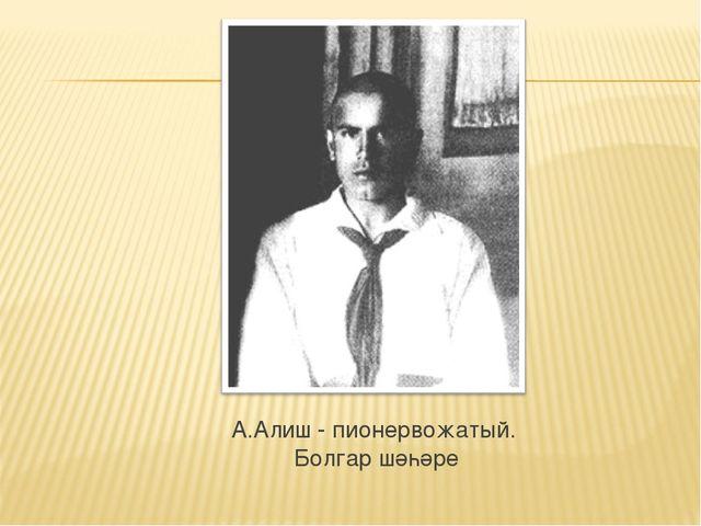 А.Алиш - пионервожатый. Болгар шәһәре