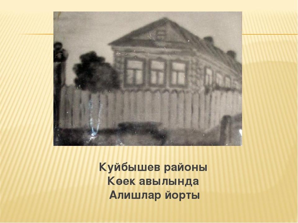 Куйбышев районы Көек авылында Алишлар йорты