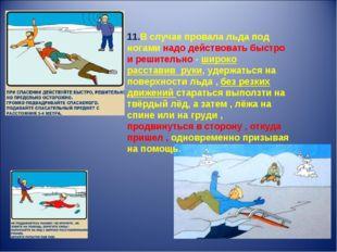 11.В случае провала льда под ногами надо действовать быстро и решительно - ши
