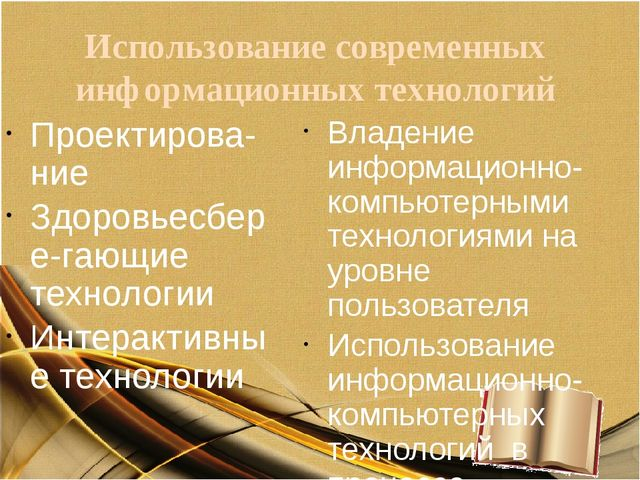Использование современных информационных технологий Проектирова-ние Здоровьес...