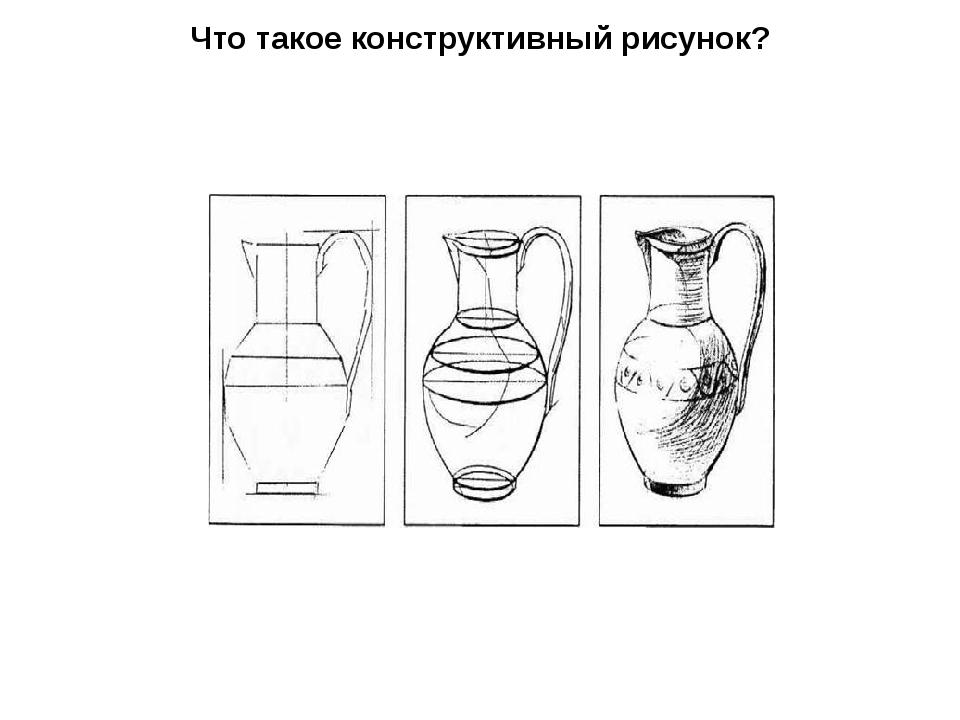 Что такое конструктивный рисунок?
