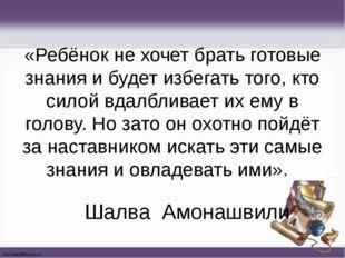 «Ребёнок не хочет брать готовые знания и будет избегать того, кто силой вдалб
