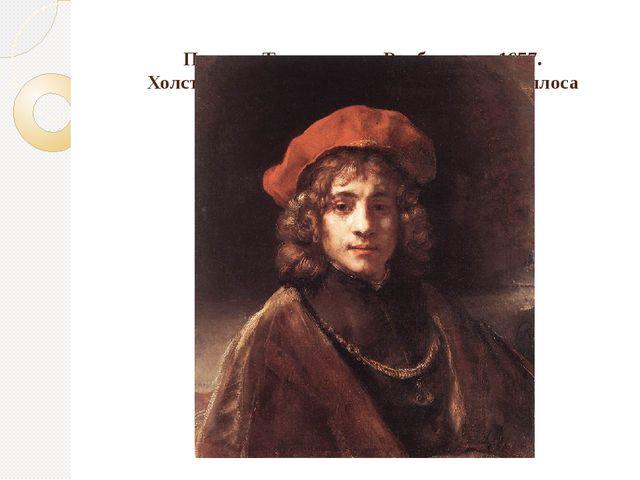 Портрет Титуса, сына Рембрандта, 1657. Холст, масло, 69х57. Лондон, Коллекци...