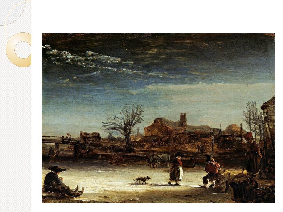 Зимний пейзаж, 1646. Дерево, масло, 17х23. Государственный Музей, Кассель
