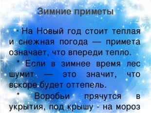 * На Новый год стоит теплая и снежная погода — примета означает, что впереди
