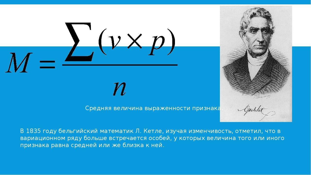 В 1835 году бельгийский математик Л. Кетле, изучая изменчивость, отметил, чт...