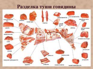 Разделка туши говядины