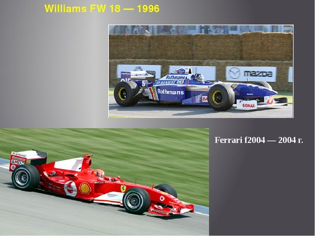 Williams FW 18 — 1996 Ferrari f2004 — 2004 г.