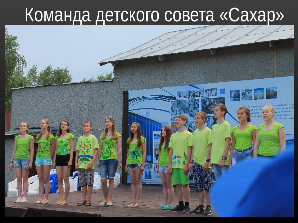 Команда детского совета «Сахар»