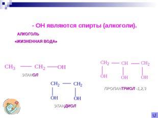 Самыми известными органическими соединениями с гидроксильной группой - OH явл