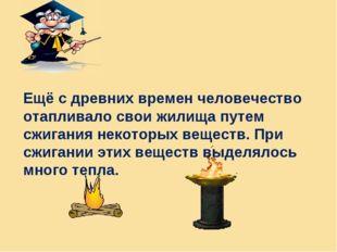 Ещё с древних времен человечество отапливало свои жилища путем сжигания некот