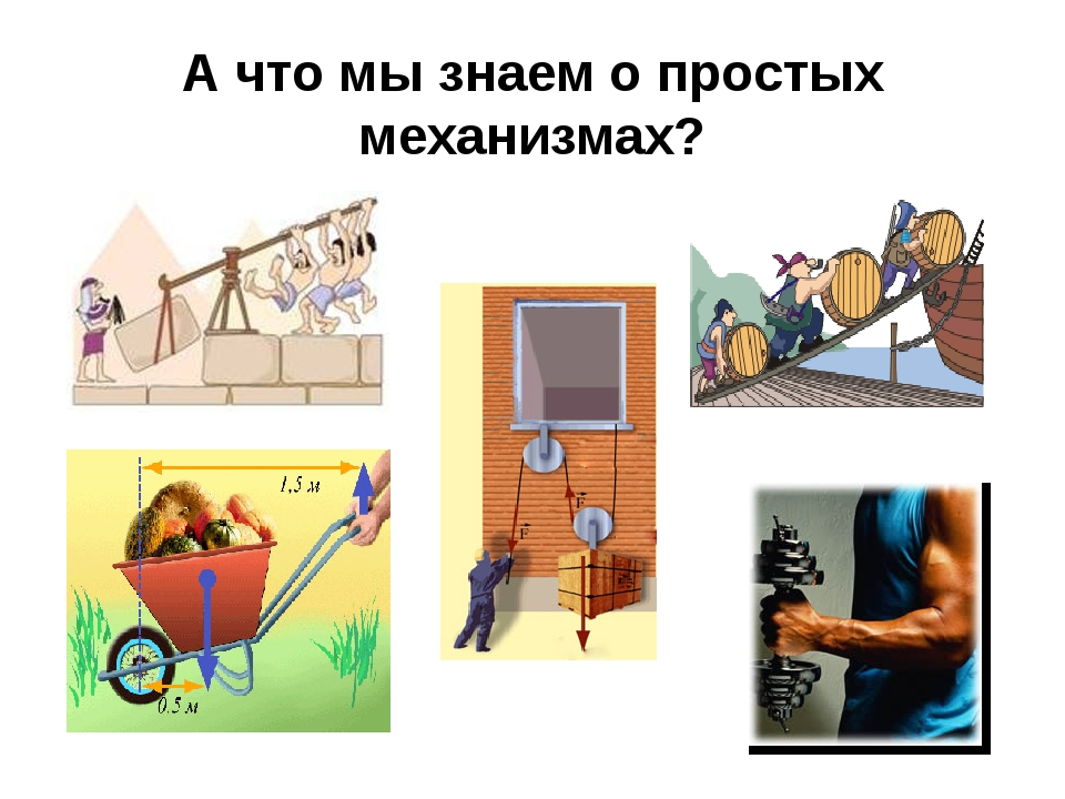 А что мы знаем о простых механизмах?