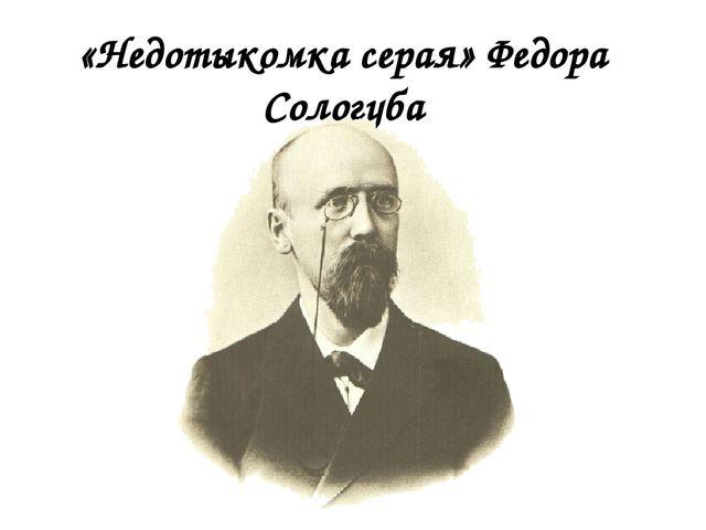 «Недотыкомка серая» Федора Сологуба
