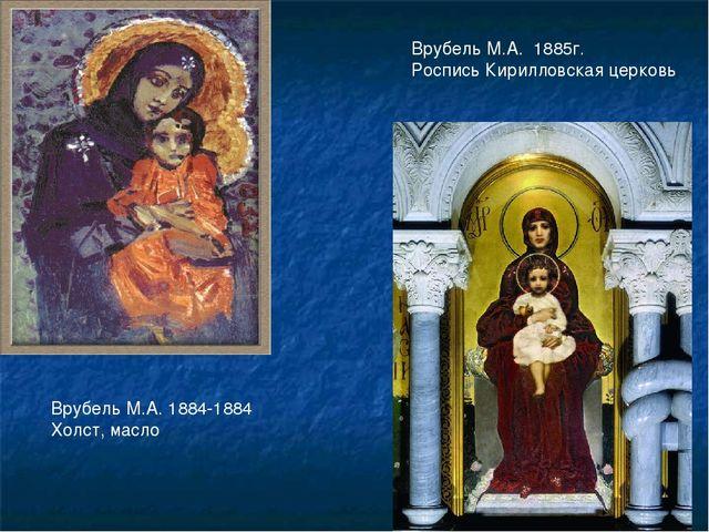 Врубель М.А. 1885г. Роспись Кирилловская церковь Врубель М.А. 1884-1884 Холст...