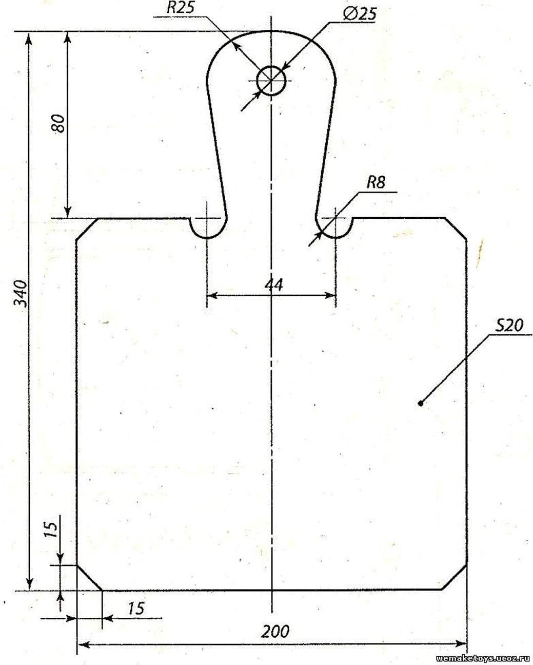Разделочные доски - чертежи для выпиливания лобзиком