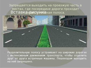 Запрещается выходить на проезжую часть в местах, где посередине дороги проход