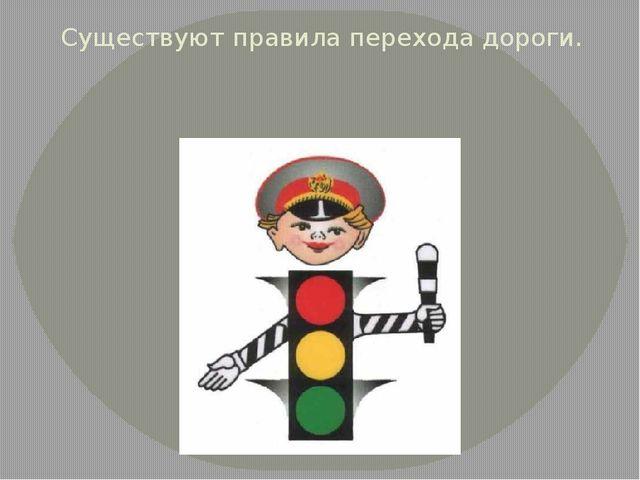 Существуют правила перехода дороги.