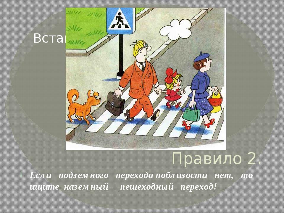 Правило 2. Если подземного перехода поблизости нет, то ищите наземный пешеход...