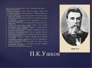 Ушков Пётр Капитонович (1840 - 1898) - химический заводчик и промышленный дея