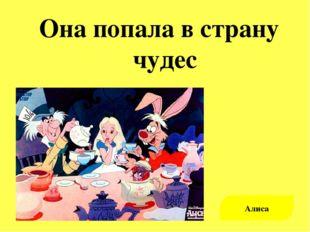 Она попала в страну чудес Алиса
