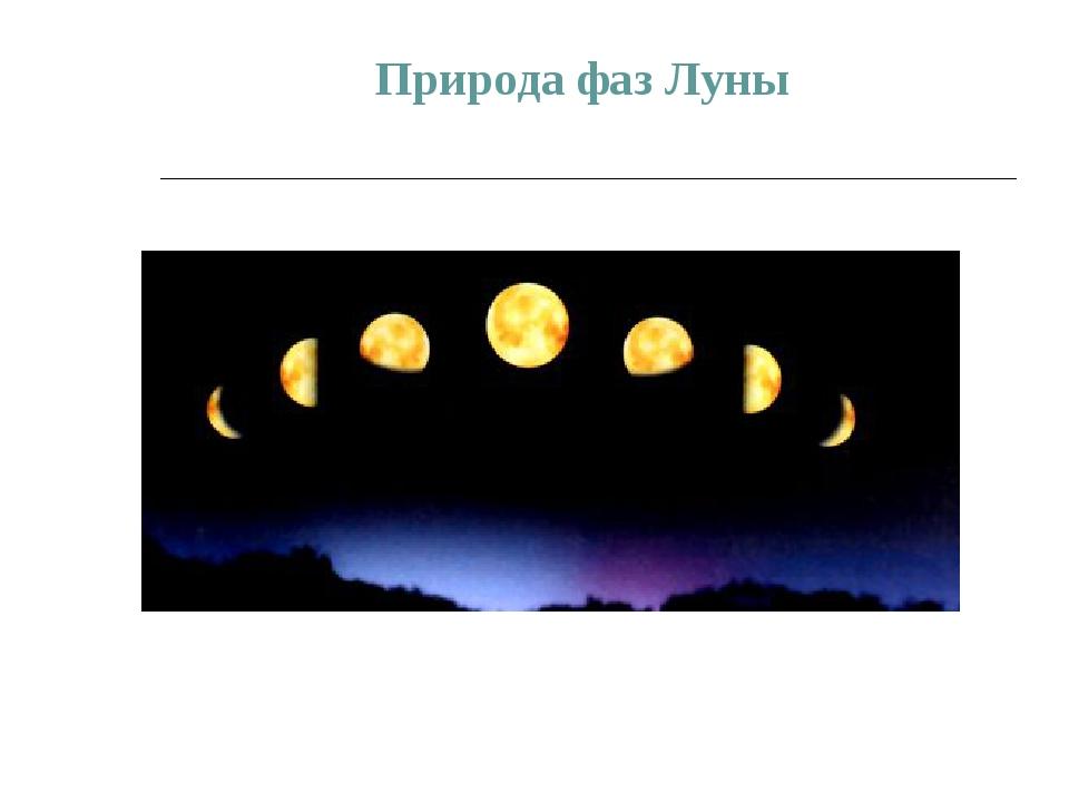 Природа фаз Луны