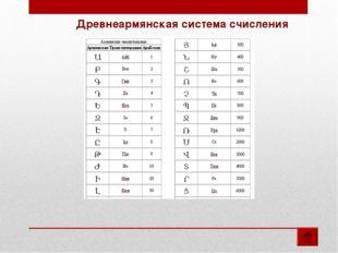 Древнеармянская система счисления