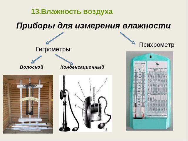 Приборы для измерения влажности Гигрометры: Психрометр Волосной Конденсационн...