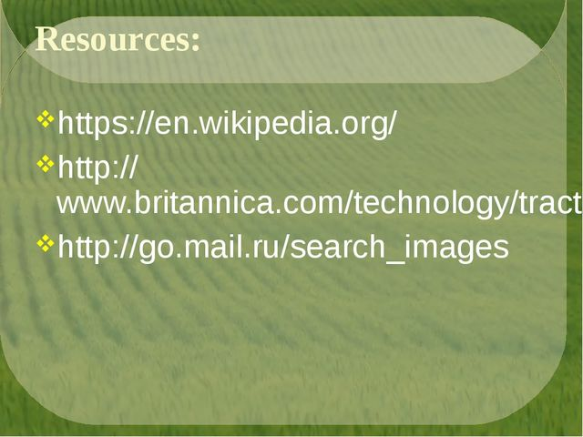 Resources: https://en.wikipedia.org/ http://www.britannica.com/technology/tra...