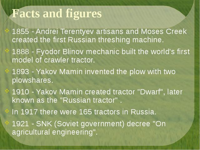 Facts and figures 1855 - Andrei Terentyev artisans and Moses Creek created th...