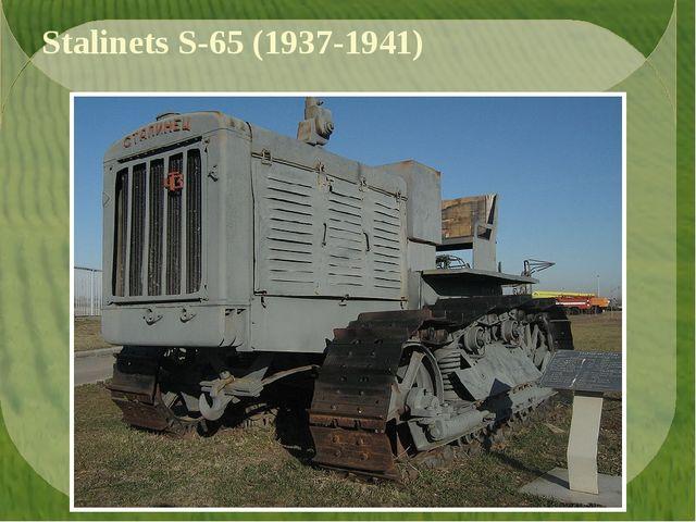 Stalinets S-65 (1937-1941)