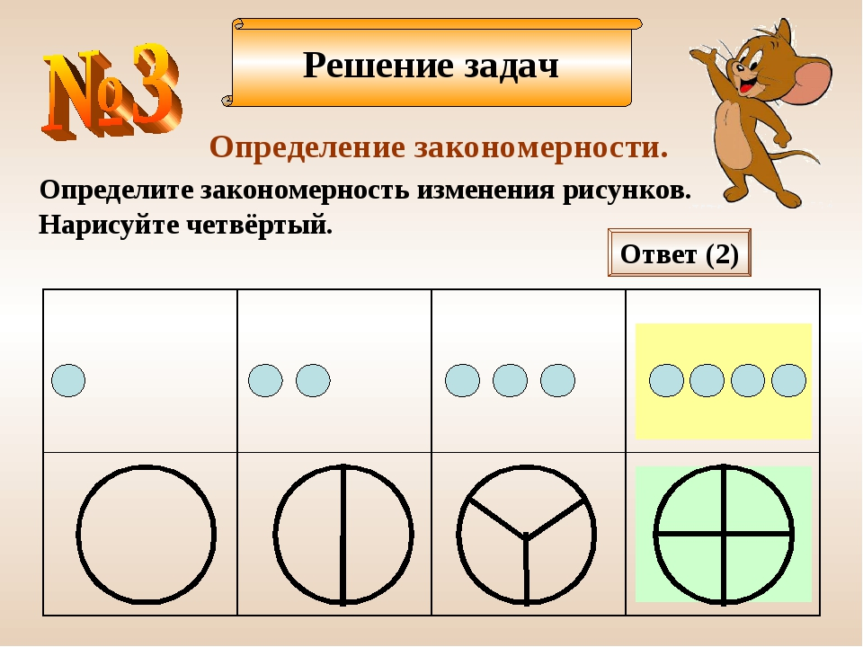 Решение задач Определение закономерности. Определите закономерность изменения...